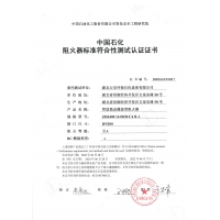 DN200 Flame arrester certificate ISO16852-2016